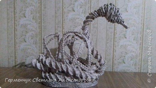 Лебедь -сувенир,упаковка для подарка ,украшение интерьера так можно назвать это изделие .  Размер- высота 29 см ,длина 33 см Увидела идею в Интернете фото 7