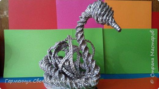 Лебедь -сувенир,упаковка для подарка ,украшение интерьера так можно назвать это изделие .  Размер- высота 29 см ,длина 33 см Увидела идею в Интернете фото 13