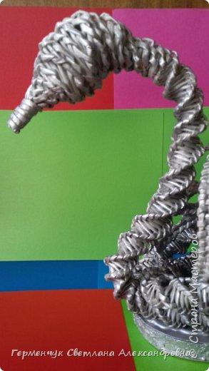 Лебедь -сувенир,упаковка для подарка ,украшение интерьера так можно назвать это изделие .  Размер- высота 29 см ,длина 33 см Увидела идею в Интернете фото 18
