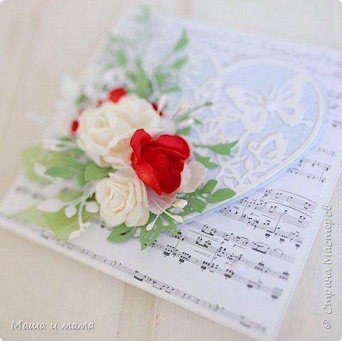 Здравствуйте!!!! Продолжаю свадебную тему. Ещё вариант сердечно-красно-белого. В этом году немало невест, выбравших такие букеты  фото 4