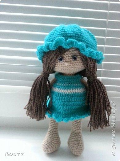 Интерьерная вязанная кукла фото 5