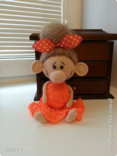 Интерьерная вязанная кукла фото 17
