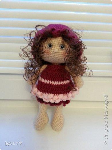 Интерьерная вязанная кукла фото 2