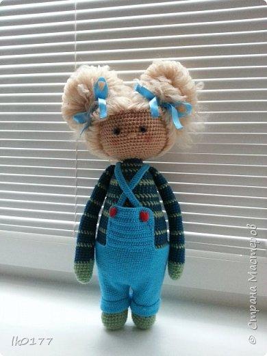 Интерьерная вязанная кукла фото 8