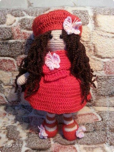 Интерьерная вязанная кукла фото 1