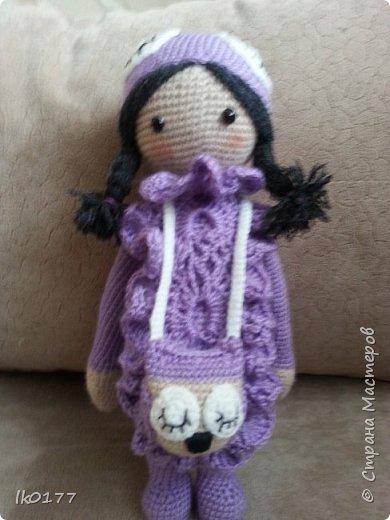 Интерьерная вязанная кукла фото 16