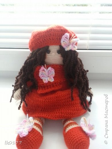 Интерьерная вязанная кукла фото 7