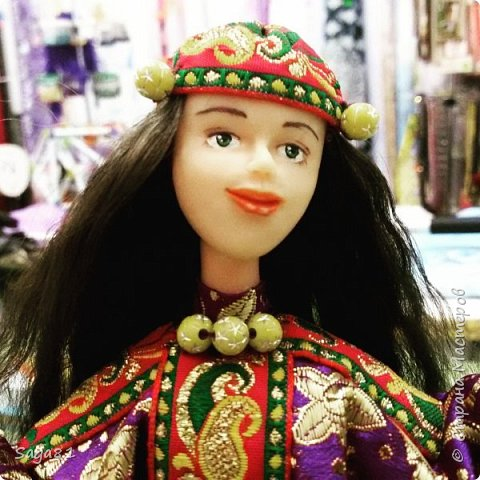 """Всем доброго летнего дня. собралась я впервые на фестиваль этнического ремесла и музыки """"Мир Сибири"""", которое проходит в нашем соседнем регионе Красноярском крае, в Шушенском. И решила свозить свои национальные работы. вот хочу представить некоторые из них. Все в хакасской национальной одежде. фото 7"""