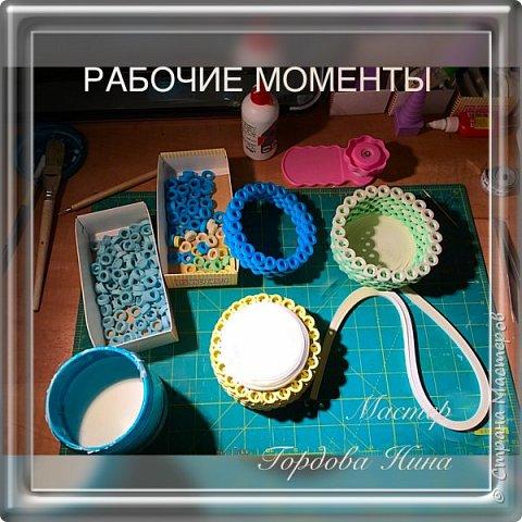 Квиллинг КОРЗИНКА ДЛЯ СЛАДОСТЕЙ фото 2