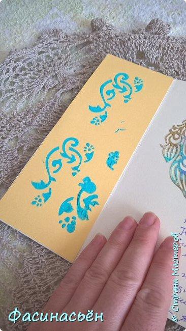 """Сотворилась у меня открыточка для подруги (ей """"везет"""",я ей на новый но тоже дверь дарила :-) ). Основа-дизкартон,двери из пивного картона,грунт,краска и воски (белый и золотой).Дверь конечно где то в заброшенном замке,потертая,но все еще красивая))) фото 6"""