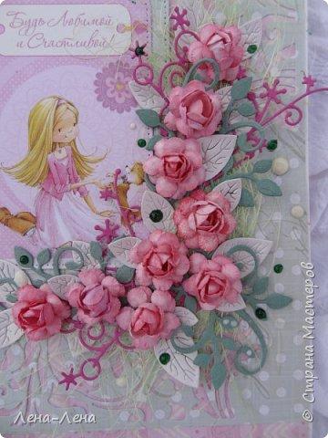 Детские открыточки в розовом фото 5