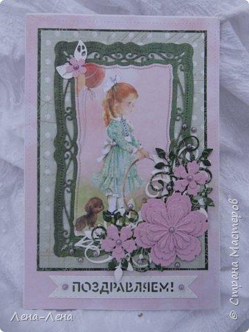 Детские открыточки в розовом фото 1