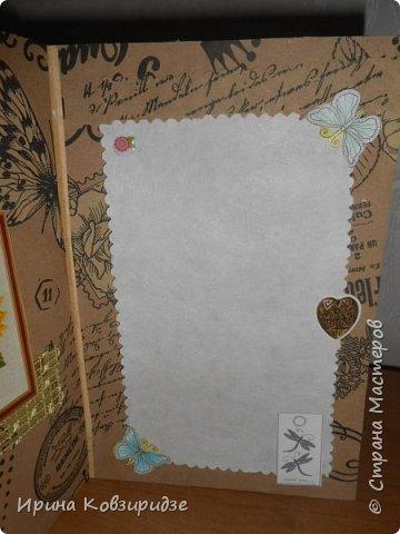 """Три открытки """"Подсолнухи"""" Картинки наклеены на картон и на кусочки вспененного скотча. фото 5"""
