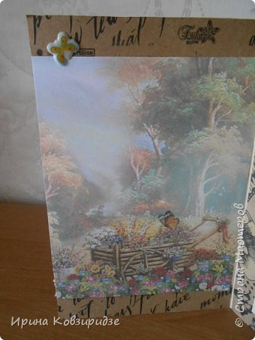 """Три открытки """"Подсолнухи"""" Картинки наклеены на картон и на кусочки вспененного скотча. фото 9"""