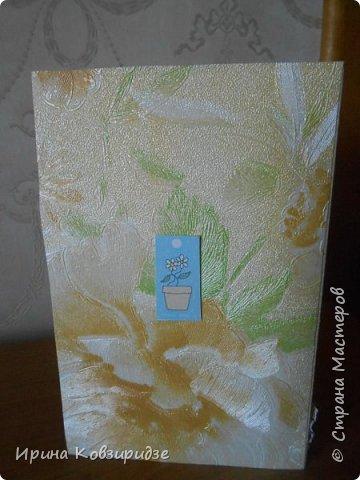 """Три открытки """"Подсолнухи"""" Картинки наклеены на картон и на кусочки вспененного скотча. фото 15"""