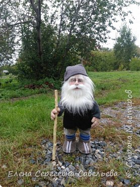 Старец был замечен у моих ворот))) Приоделся тёпленько, видать к осени. фото 1