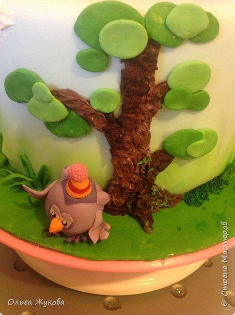"""Всем привет! Хочу показать детский тортик """"Смешарики""""! Цветов тут нет, но мне очень интересно было делать эту работу) я получила огромное удовольствие! Ведь этот тортик для моей младшей доченьки! фото 5"""