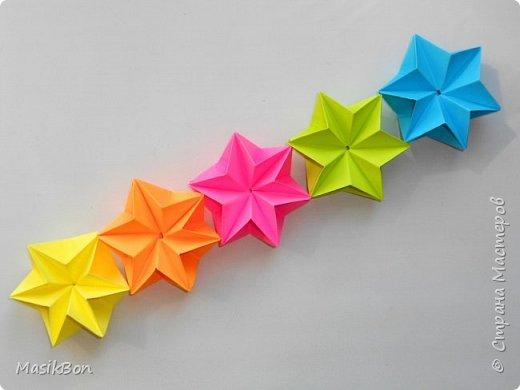 Праздничная гирлянда из бумаги своими руками. Простое оригами