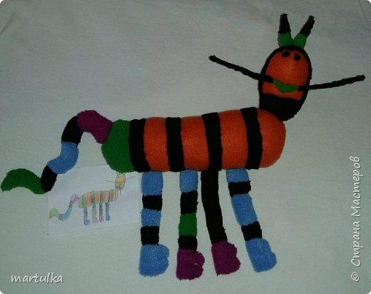 игрушка,  сшитая по рисунку ребенка....))) фото 1