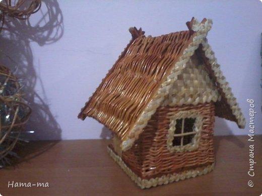 Изделия из ивы :грибная поляна , домик, снеговик. фото 2