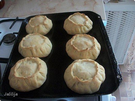 """Приветствую всех тех, кто любит накормить своих близких вкусно. И тех, кто любит вкусно поесть. И всех, кто заглянул ко мне из любопытства. Сначала два предупреждения. Первое - я не согласна с названием """"Курник"""", присвоенным национальному татарскому пирогу с мясом и картошкой, который, наверняка, знают большинство хозяек. У нас это -""""балэш, или зур балэш (большой балэш), кстати, любимые многими беляши из той же оперы. В противовес к большому многие хозяйки готовят """"вак балэш""""  (маленький балэш), это быстрее, удобнее подавать к столу.  настоящий балэш готовился исстари вовсе не из курицы, а из говядины или гусятины. Это праздничная еда. В моём детстве во многих семьях, как обычная еда, он готовился из потрохов и тоже был неимоверно вкусен. Второе - это, конечно же, не летнее блюдо. Оно для осени, для зимы. Но к нам приехала гостья из Санкт-Петербурга, которую мы решили угостить  """"вак балэш"""" - этим национальным блюдом.   У каждой хозяйки он свой. Я предлагаю сделать так, как делаю я. Здесь уже готовый результат. фото 1"""