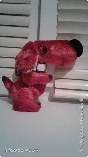 Собачка из советского плюша по выкройке А.Шангиной фото 1