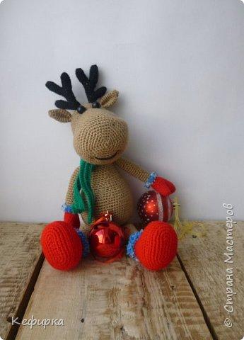 Милейший рождественский олень Руди по описанию Марии Устюшкиной. фото 1