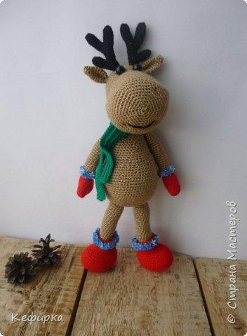 Милейший рождественский олень Руди по описанию Марии Устюшкиной. фото 2