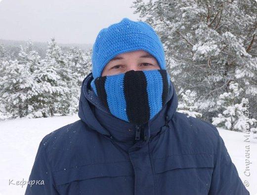 Муж попросил связать шапку в стиле героя SubZero из MortalKombat) фото 1