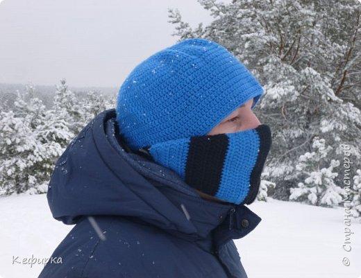 Муж попросил связать шапку в стиле героя SubZero из MortalKombat) фото 2