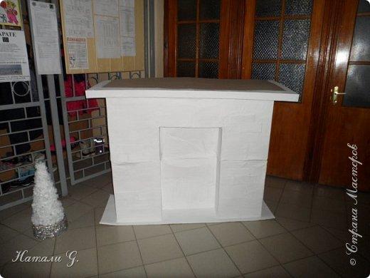 Новогодний интерьер  в белом  цвете фото 3
