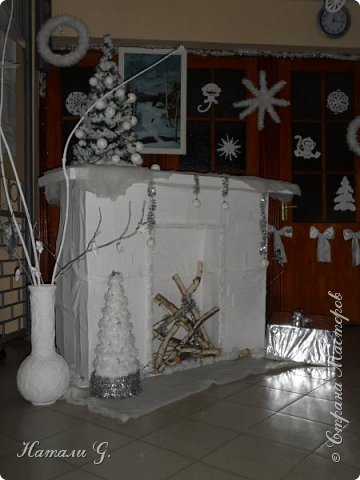 Новогодний интерьер  в белом  цвете фото 4