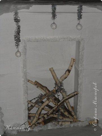 Новогодний интерьер  в белом  цвете фото 5