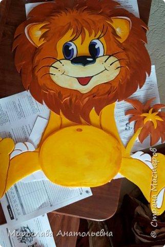 Львёнок в дет.сад из потолочной плитки. фото 1