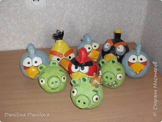 Вот такие игрушки я сделала для сына. Ему нравится этот мультик , страдал от того, что в продаже у нас нет таких птичек, вот и пришлось маме постараться для ребёнка :))