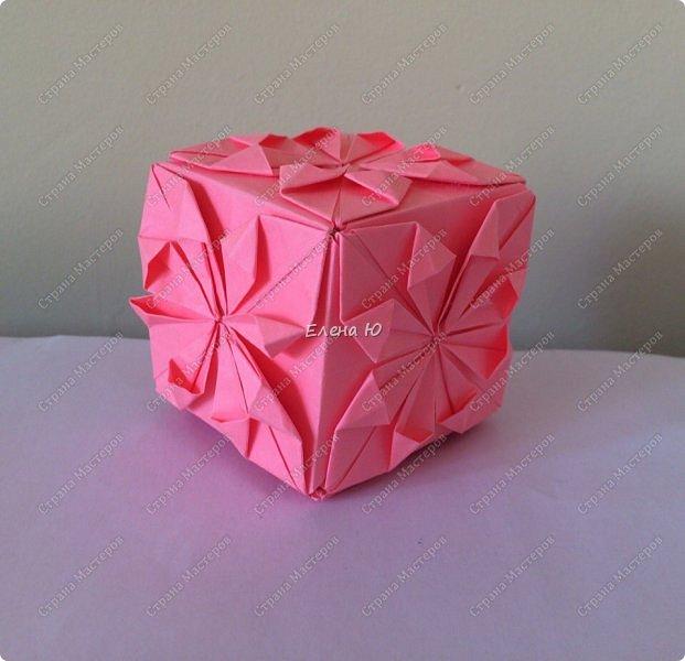 Оригинальный  куб  с рисунком модуля классической кусудамы очень приятно и быстро собирается, но нужны некоторые навыки в этом деле:  фото 23