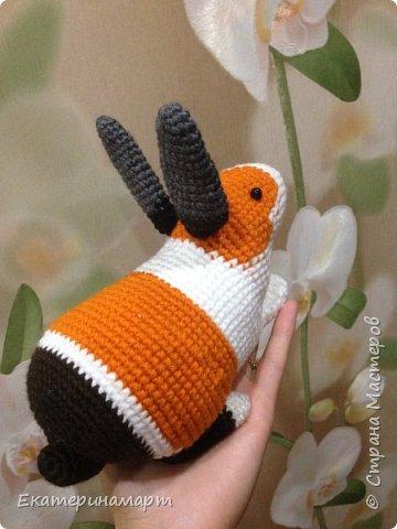 Вот такой кроличек для сыночка у меня получился =) продолжаю избавляться от остатков пряжи =) по цвету, кстати, больше похож на морскую свинку =) фото 4