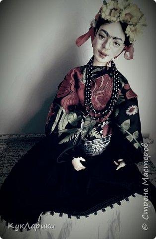 Фрида Кало.Известная мексиканская художница,с очень сложной судьбой!Яркая и сильная,она до сих пор является вдохновением для поэтов,художников и кукольников. фото 1