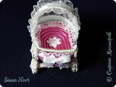 Давно посматривала на такую колясочку у Степановой Наталии https://stranamasterov.ru/node/960857?t=451 Наконец то  я решилась повторить такую красоту. фото 3