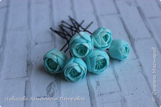"""МК """"Цветы на шпильках"""" для праздничной прически  принцессы! :) фото 11"""