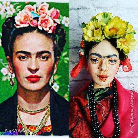 Фрида Кало.Известная мексиканская художница,с очень сложной судьбой!Яркая и сильная,она до сих пор является вдохновением для поэтов,художников и кукольников. фото 7