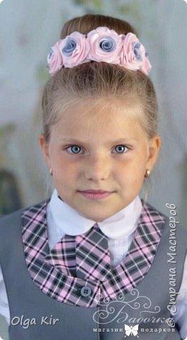 Украшения под школьную форму в серо-розовой гамме. Очень популярное сочетание в этом сезоне фото 6