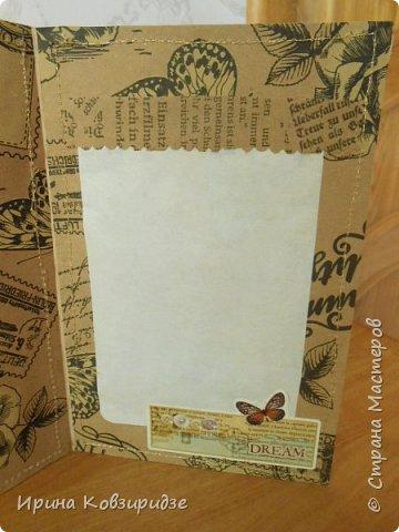 Пришла мне идея декорировать открытки тканью и прострочить. Вот. что получилось... фото 5