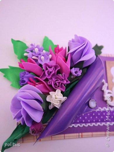 Решила сделать конвертик для денег на свадьбу друзей сама, поискала идеи в инете  и решила, что есть отличное применение цветочкам, которые не попали в ободки. фото 7