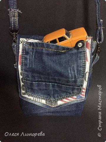 Сумка джинсовая для мальчика
