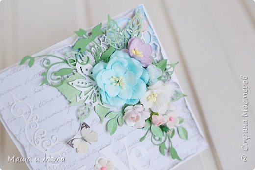 Здравствуйте!!!! Продолжаю публиковать свои конверты-открытки для дисков со свадебными фото. На этот раз сложился вот такой. фото 1