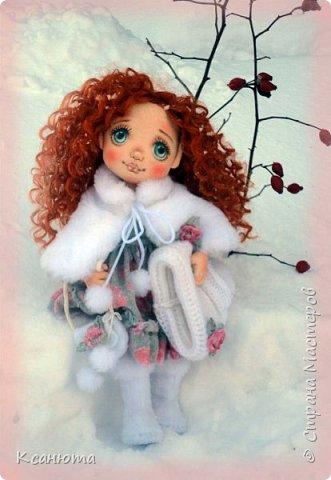 """Текстильные малышки-""""зимние"""" девочки фото 1"""