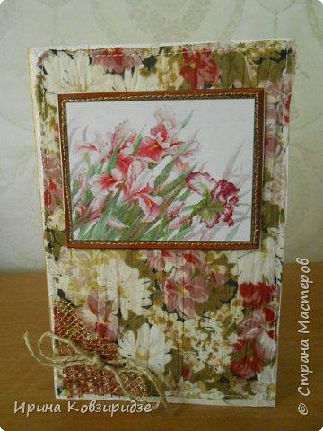 Предлагаю вашему вниманию 2 следующие открытки , декорированные тканью. фото 2