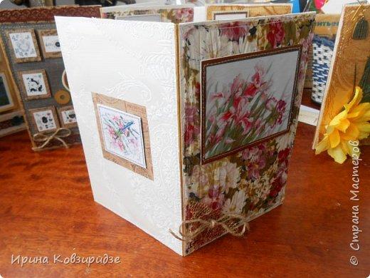 Предлагаю вашему вниманию 2 следующие открытки , декорированные тканью. фото 3