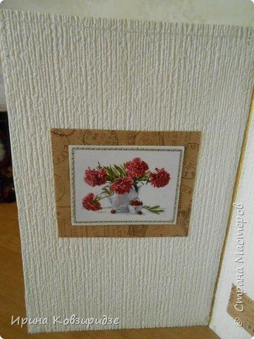 Предлагаю вашему вниманию 2 следующие открытки , декорированные тканью. фото 5